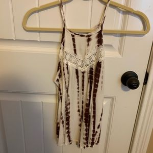 Burgundy and White tank top!!